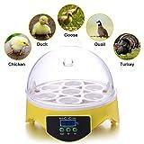 Currens 7 Egg Incubator Digital Mini Egg Incubator Chicken Duck Egg Incubator Egg Hatcher (7 Egg Incubator) (Tamaño: 7 Egg Incubator)