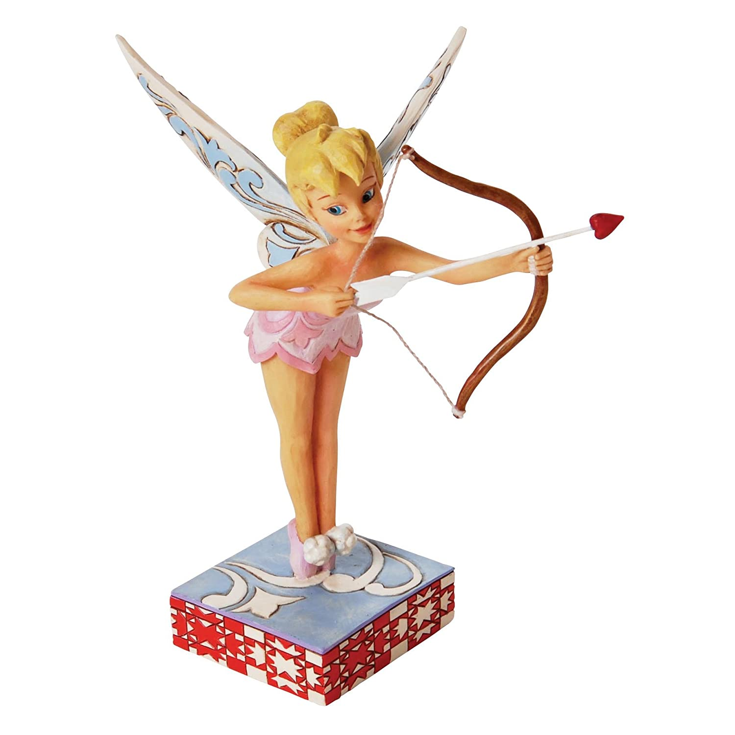 Disney traditions by jim shore tinker bell as cupid figurine love decor gift new ebay - Tinkerbell statues ...