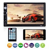 Universal Double Din Car Stereo, ESSGOO Mirror Link 7Inch Touch Screen in Dash Car Radio Receiver Audio Video Player Supports USB/FM/TF/BT/AUX/MP5 Multimedia with Remote Control (Color: 7010B)