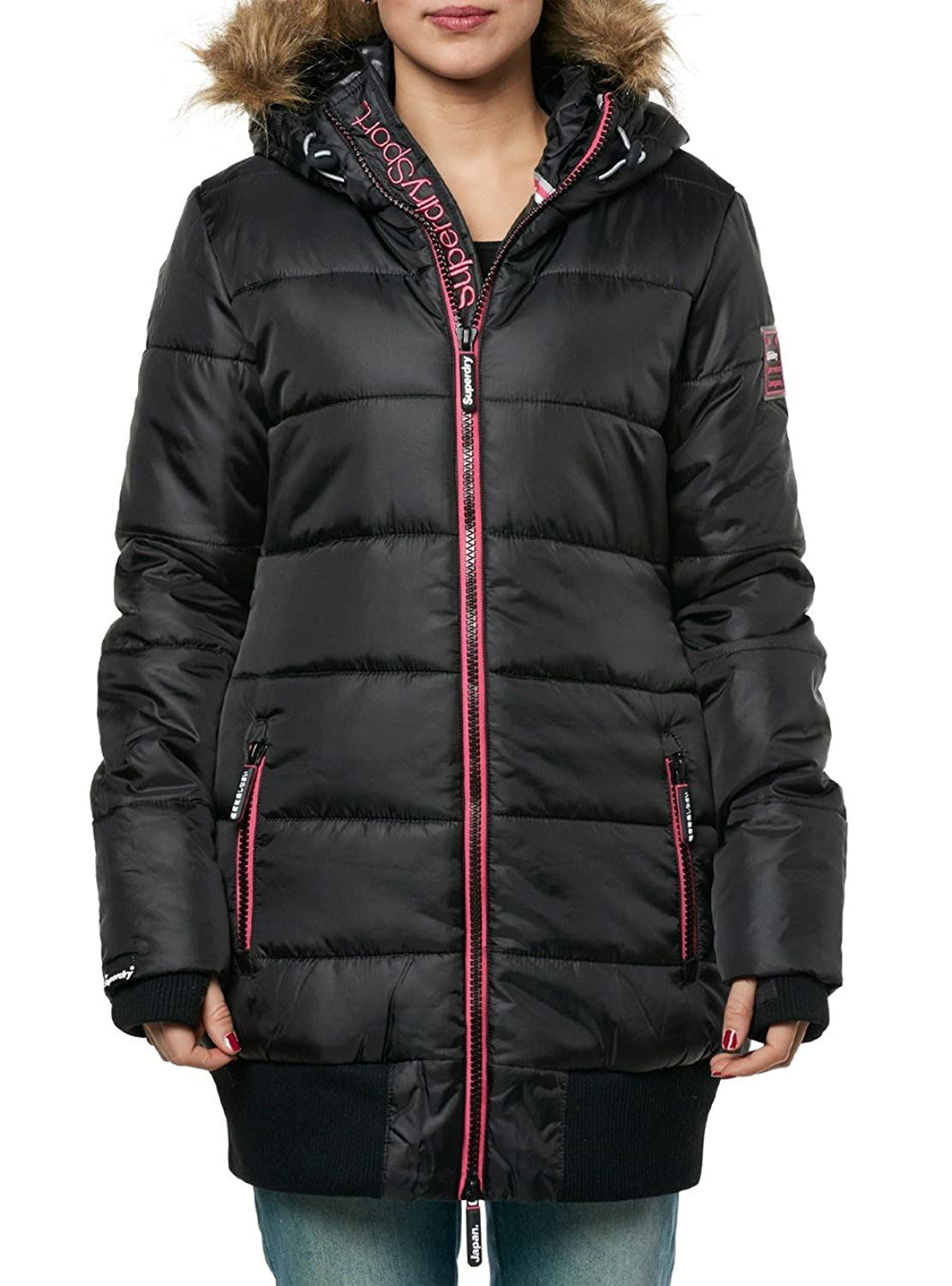 Superdry Mantel Women SPORTS TALL PUFFER Navy Burgundy