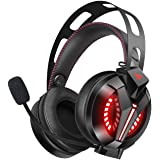 Gaming Headset - Combatwing PS4 Headset 7.1 Surround Sound PC Headsets Xbox Headset with Noise Canceling Mic Best Gaming Headphones for PS4/PS2/PC/Mac/Cellphones/Xbox 360