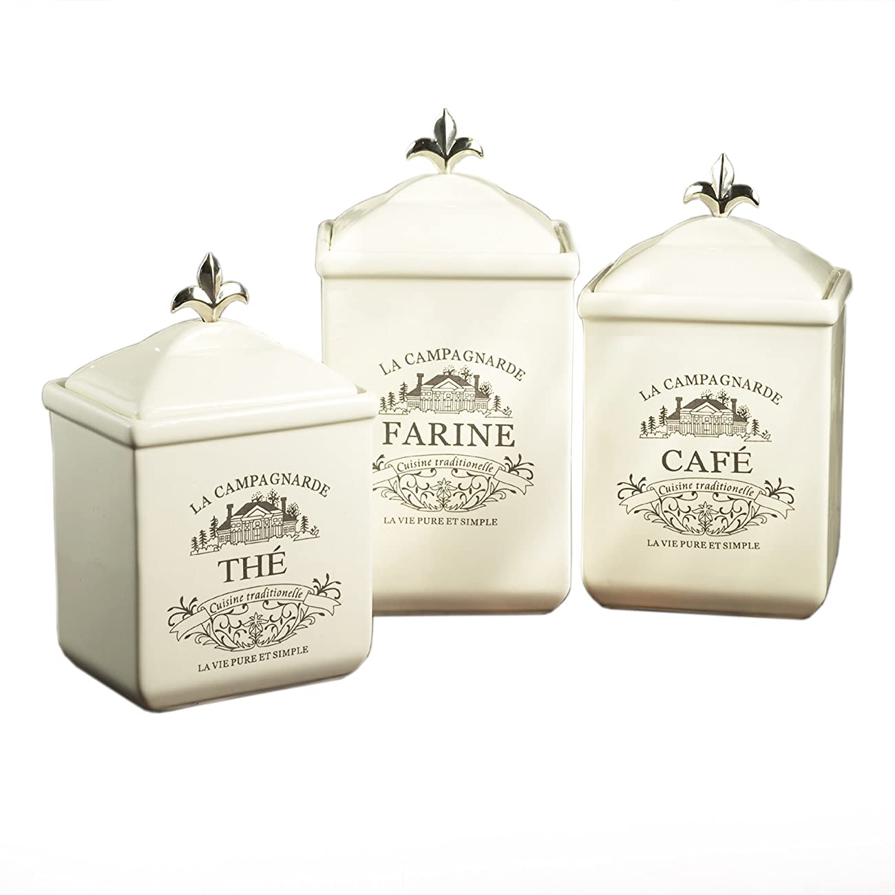 American Atelier Maison 3-Piece Cookie Jar Set 0