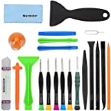 Warmstor 21 Pieces Premium Opening Pry Tool Screwdriver Set Repair Kit for iPhone XS Max/XS/XR/X/8/8 Plus/7/7 Plus/6S/6/6 Plus/5/5C/5S/4/4S, iPad Pro/Air/4/3/2/Mini, iPods and More (Color: Repair Kit)