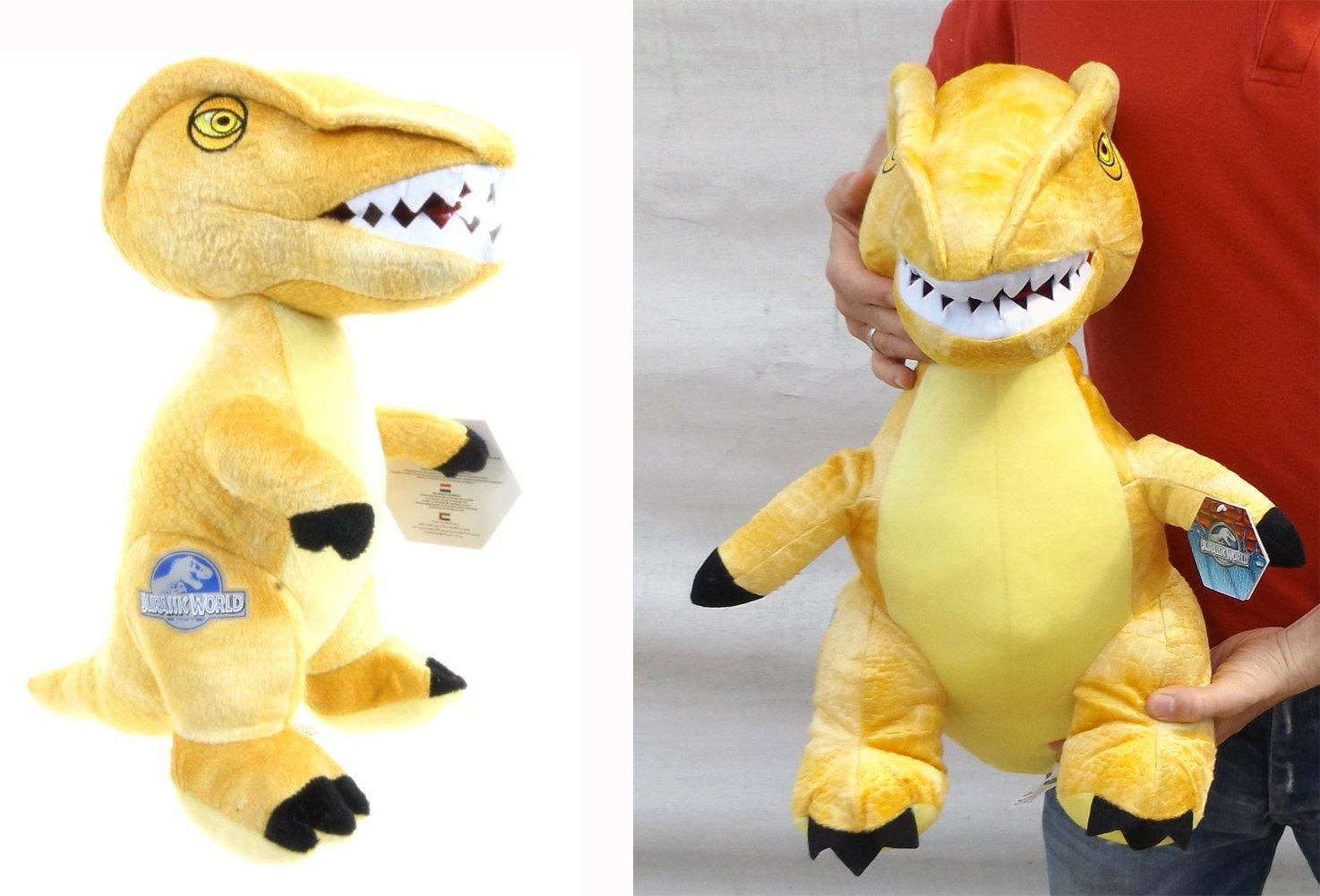 Brigamo 24017 – Jurassic World© gelber Velociraptor Plüsch DINOSAURIER IN XL GRÖßE! günstig online kaufen