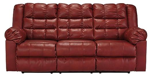 Brolayne DuraBlend Garnet Reclining Sofa