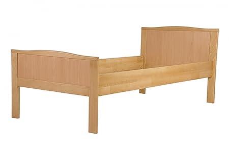 Seniorenbett Buche natur extra hoch 100x200 Massivholz-Bettgestell ohne Zubehör 60.70-10 oR