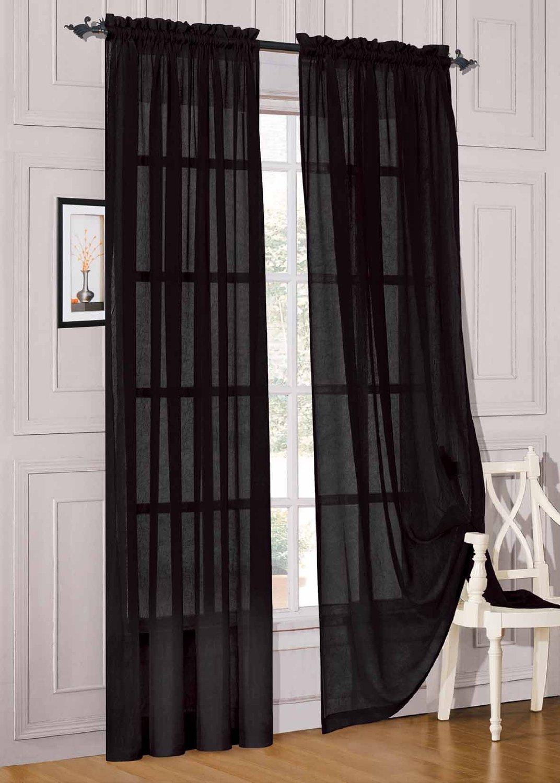 black curtain panels images