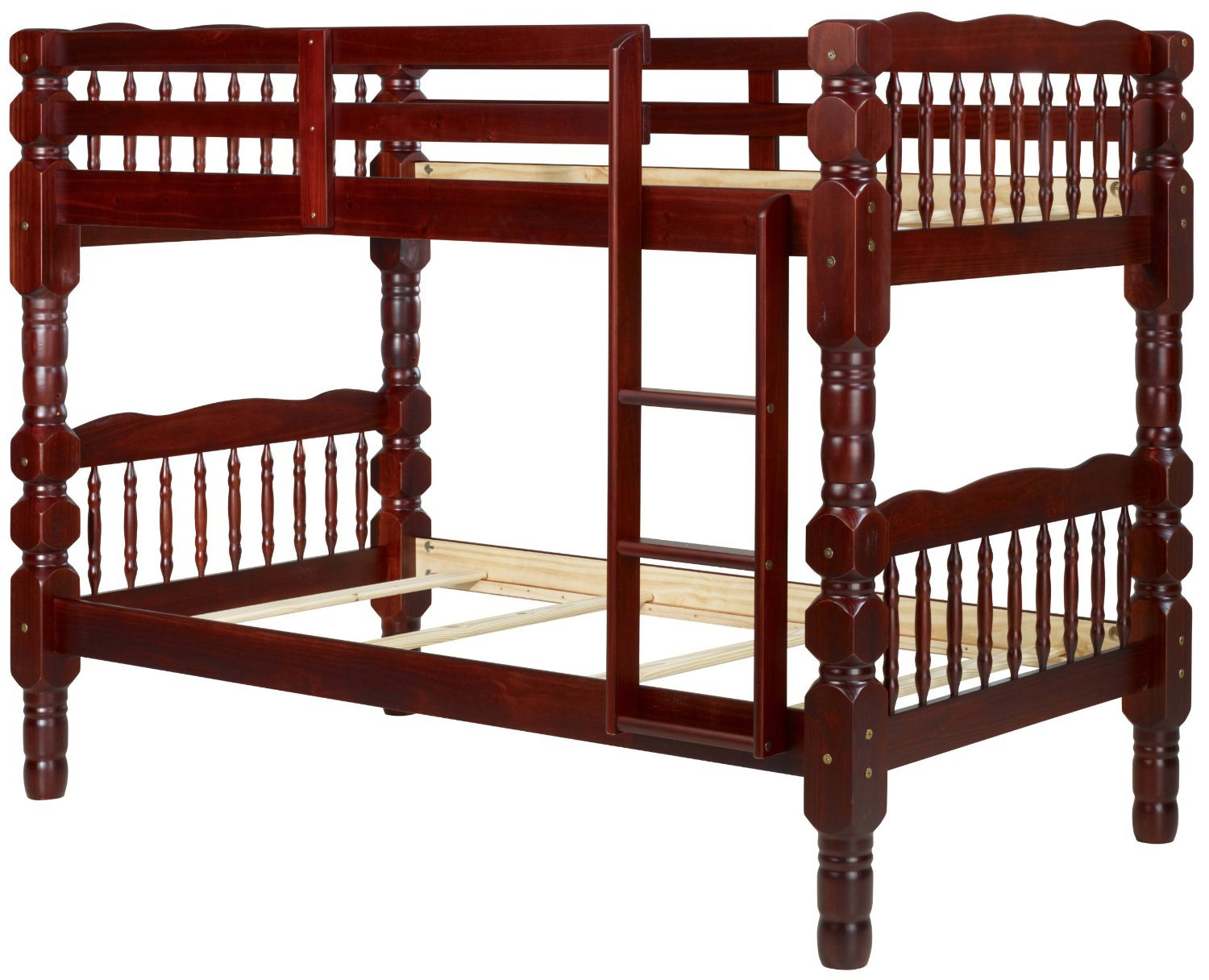 100 solid wood dakota twin twin bunk bed 61 hx44 wx82 5 l for Unfinished loft bed
