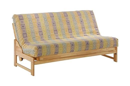 Eureka Twin Lounger Futon Frame in natural finish Furniture