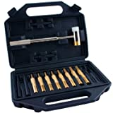 Pin Punch Set with Hammer, Punches are Brass, Steel and Plastic, the Hammer is Brass/Polymer comes with a Carry Case, Gunsmithing Maintenance set