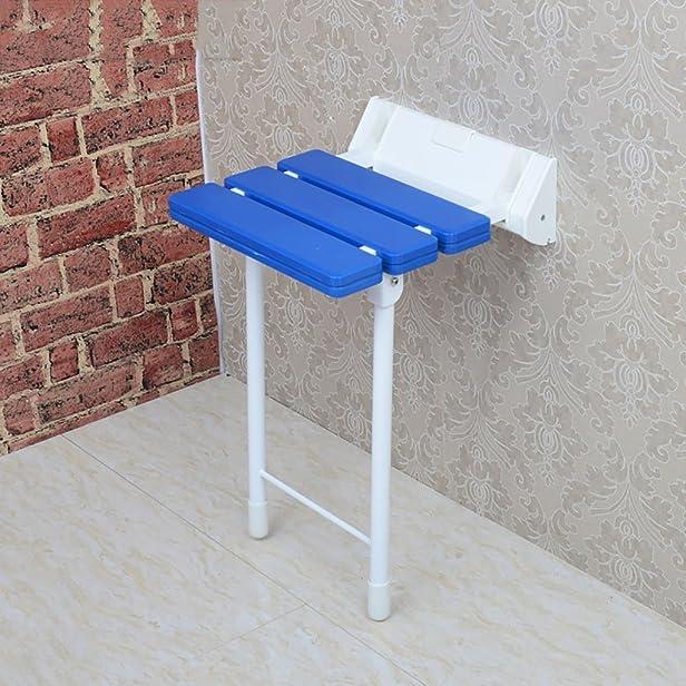 Aiuti alla mobilità per la stanza da bagno Sgabello pieghevole a secco per doccia Sedia da bagno Sgabello da barca a fogli mobili con parete per le donne incinte Uomo anziano by DRM