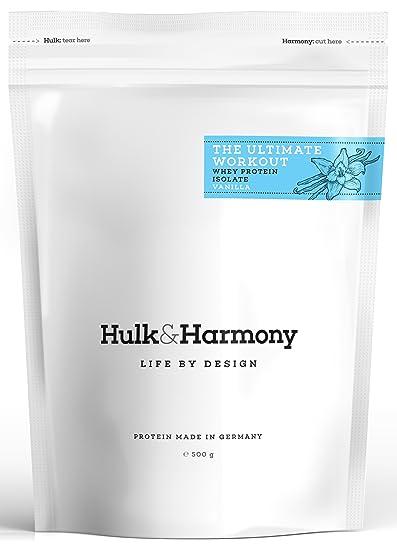 Hulk&Harmony │Premium Whey Protein Isolat (WPI) │Eiweißpulver zur Unterstutzung von Muskelaufbau, Fettverbrennung und Regeneration │Mit ♥ hergestellt in Deutschland │500 g │Vanille