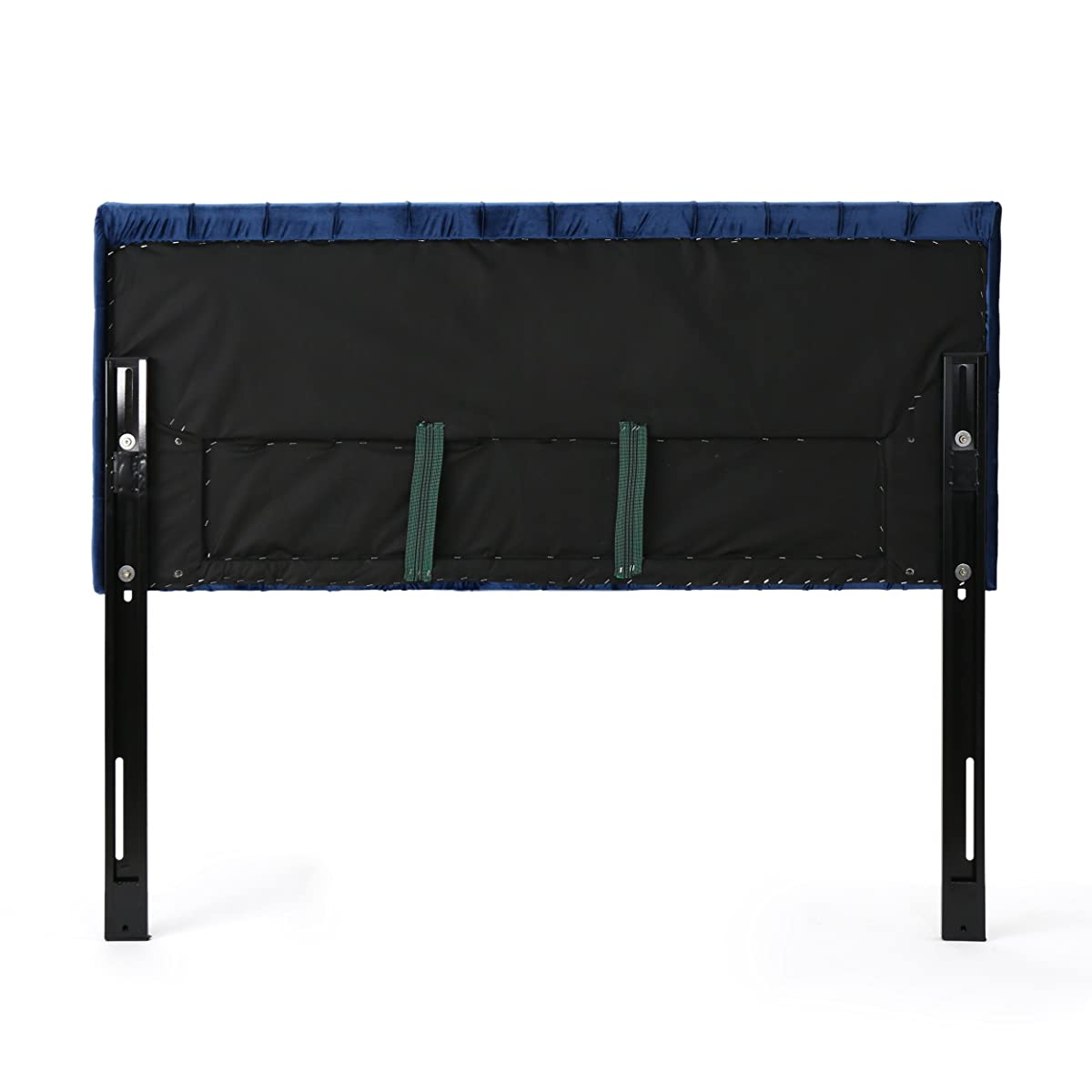 Christopher Knight Home 303582 Jezebel Headboard, Navy Blue and Black Steel
