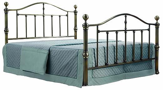 Birlea Victoria 5ft Kingsize Metal Bed, Antique Brass