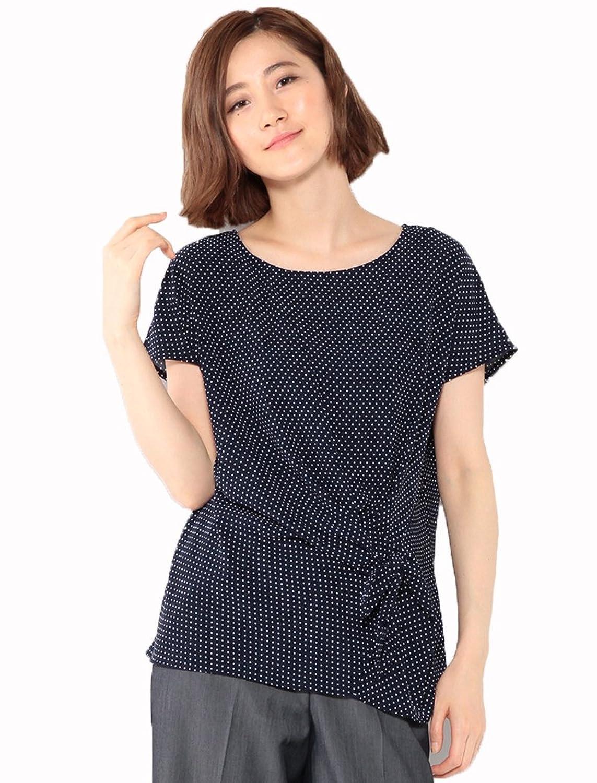 (エーシーデザインバイアルファキュービック)A/C DESIGN BY ALPHA CUBIC ドット柄アシメリボンブラウス : 服&ファッション小物通販 | Amazon.co.jp