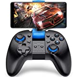 Android Wireless Game Controller, BEBONCOOL Gamepad Remote (for Android Phone/Tablet/Samsung Gear VR/Emulator) Gear VR Gamepad Controller Compatible with Bluetooth (Color: B07-B Blue)