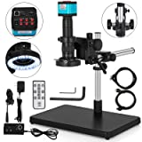 Mophorn Video Microscope 14MP HDMI Industry Stereo Microscope Camera HD USB Digital Industrial Camera 180X C-Mount Zoom Lens with Big Boom Stand Bracket (S1000A with Stereo Stand) (Color: S1000-a2, Tamaño: S1000-A2)