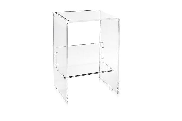 Iplex Design Eith Mobile Porta Stampante in Plexiglass Trasparente