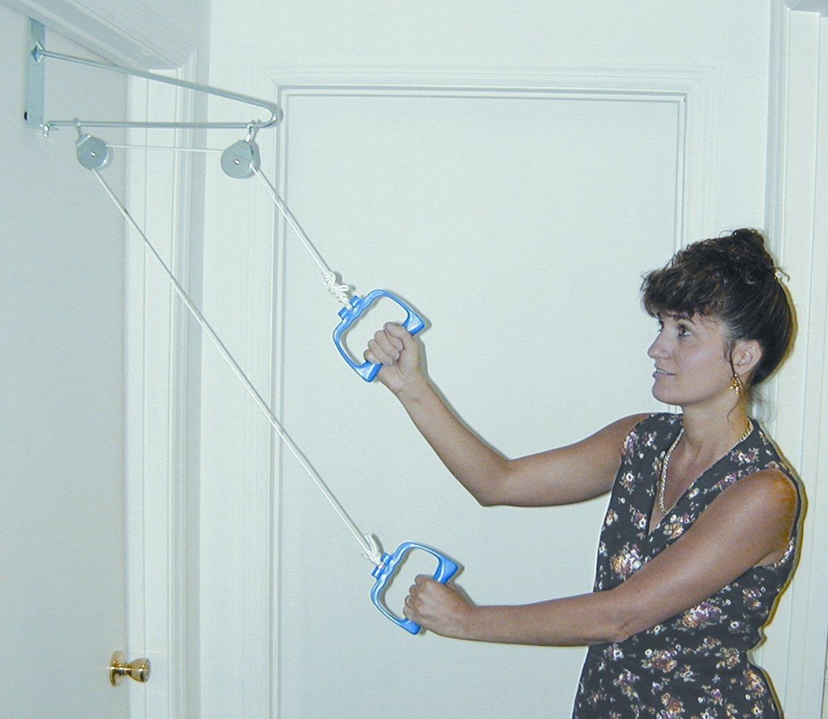 Dmi Shoulder Arm Exercise Pulley Set Over The Door Ebay