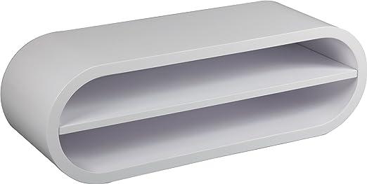 TV Unit Varnished design White