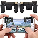 BISOZER Mobile Game Controller, Cell Phone Game Triggers, Sensitive Shoot and Aim Buttons Shooter Handgrip L1&R1 Compatible with Android & iPhone For PUBG, Fortnite, Rules, Survive Game