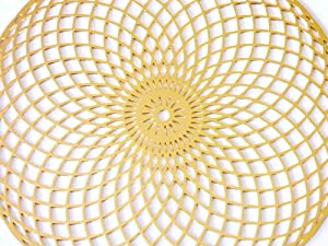 Torus Vortex 18K Gold Plated 4 Healing Grid (Color: Gold, Tamaño: 11.25x.01x11.25)