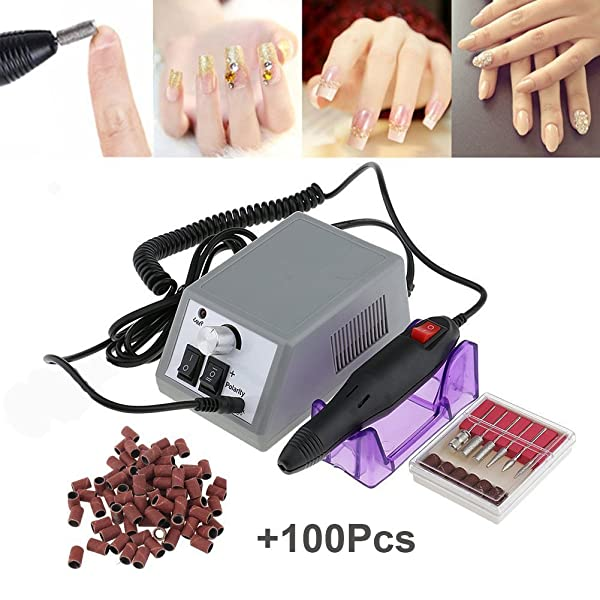 Electric Nail Drill Machine Nail File Drill Set Kit for Acrylic ...