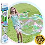 WOWmazing Giant Bubble Wands Kit: (3-Piece Set)   Incl. Wand, Big Bubble Concentrate and Tips & Trick Booklet   Outdoor Toy for Kids, Boys, Girls   Bubbles Made in The USA (Kit) (Color: Bubbles Made in the Usa (Kit), Tamaño: Kit)