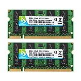 DUOMEIQI 4GB (2 X 2GB) 2RX8 PC2-5300 PC2-5400 DDR2 667MHz 200 Pin 1.8v SODIMM Notebook RAM Laptop Memory Module