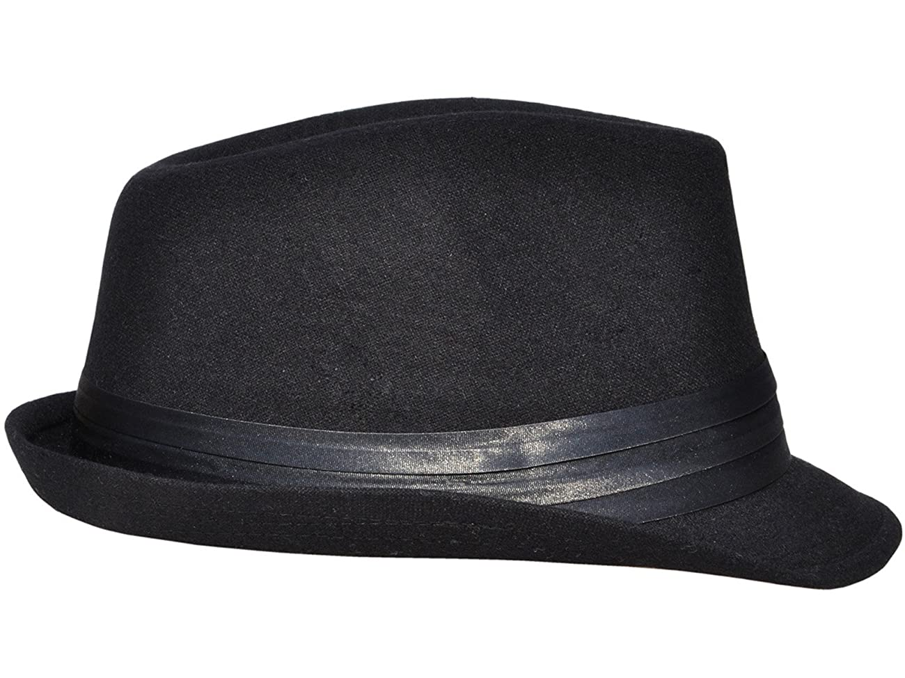 Simplicity Men Women Manhattan Structured Gangster Trilby Wool Fedora Hat 3