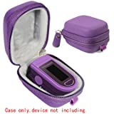 WGear Case for Zacurate Pro 500DL, Childrend: Innovo Deluxe, Santamedical 2. Facelake FL400 t. FL350: Vive Precision Spo2 Accumed cms-50dl, 50D1, Healthtree (Purple) (Color: Purple, Tamaño: Compact size)