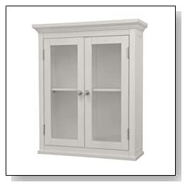 Wall Cabinet with Glass-Paneled Doors