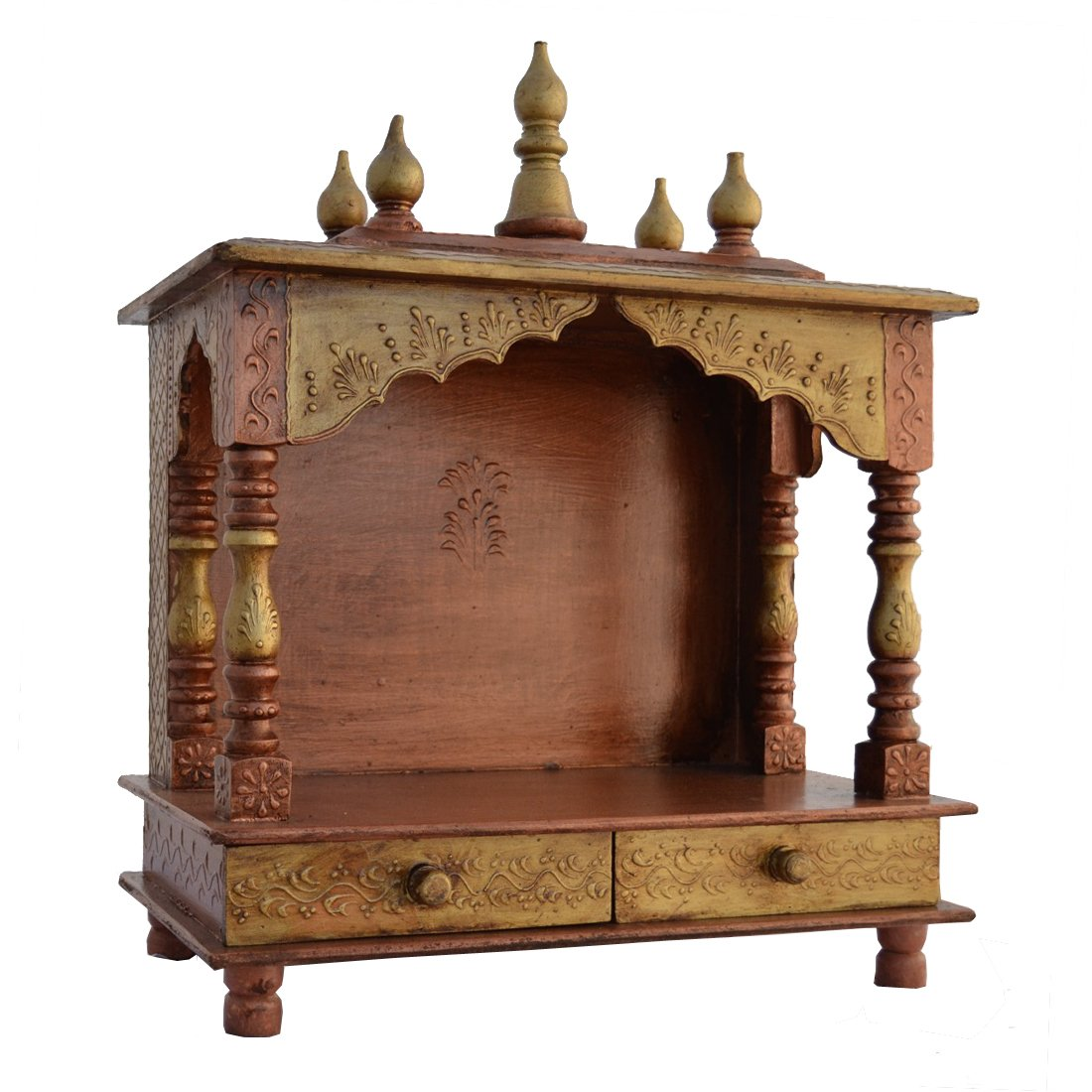Buy Home Temple Mandap Wooden Temple  Pooja Temple With LED - Pooja mandir for home designs