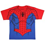 Marvel Comics The Amazing Spider-Man Youth Suit up Sublimation Print Costume T-Shirt (Medium) (Color: Red/Blue, Tamaño: Medium)
