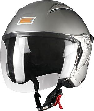 Origine helmets 202529013200004 Casque Falco, Taille : M, Brillant Argenté
