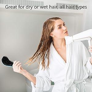 4 Pieces Detangler Hair Brush - Anti-knot Massage Comb, Detangling Brush, Anti-knot Massage Comb, Pain-Free Hair Brush Straightener, Beauty Tools, Hai