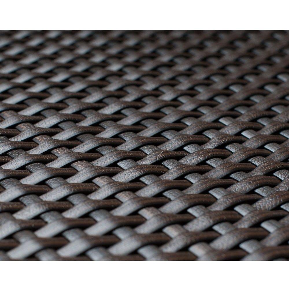 Viva-Haushaltswaren - 5 Meter hochwertiger Balkonsichtschutz / Zaunblende aus Polyrattan - Höhe 1 Meter / Farbe: Braun