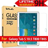 Galaxy Tab S 10.5 Screen Protector, (T800 T805) AnoKe [Tempered Glass] [Case Friendly] [0.3mm 9H] Clear Screen Protector Film Sheild For Samsung Galaxy Tab S 10.5 T800 Glass (Color: Galaxy Tab S 10.5 T800)