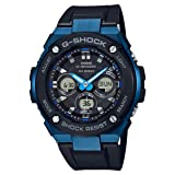 Men's Casio G-Shock G-Steel Black and Blue Solar Resin Watch GSTS300G-1A2 (Color: Blue, Tamaño: Large)
