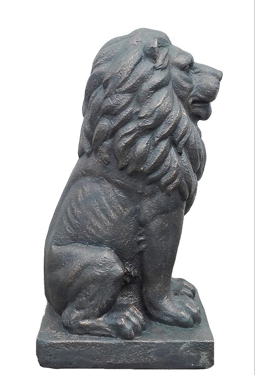 "TIAAN 28"" Lion King Concrete Statues Garden Statue Decor Lion Sculptures Outdoor Indoor Ornament Home Patio Large Figurines"