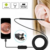 Kaleno 2 in 1 USB Ear Cleaning Endoscope Camera, Digital Otoscope Inspection Camera HD Visual Earpick Tool with Adjustable 6 LED Lights for Android an