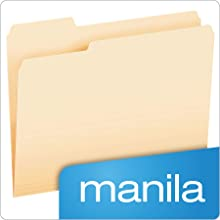 Pendaflex Essentials File Folders, Letter Size, 1/3 Cut Tabs, Manila, 100 Per box (752 1/3)
