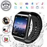 Smart Watch, Bluetooth Smart Watch for Android Phones Fitness Tracker Wrist Watch Waterproof with Camera SIM Card Slot Sports Smart Watch for Samsung Huawei Sony iOS iPhone for Men Women (GT08-Black) (Color: GT08-Black, Tamaño: 3)