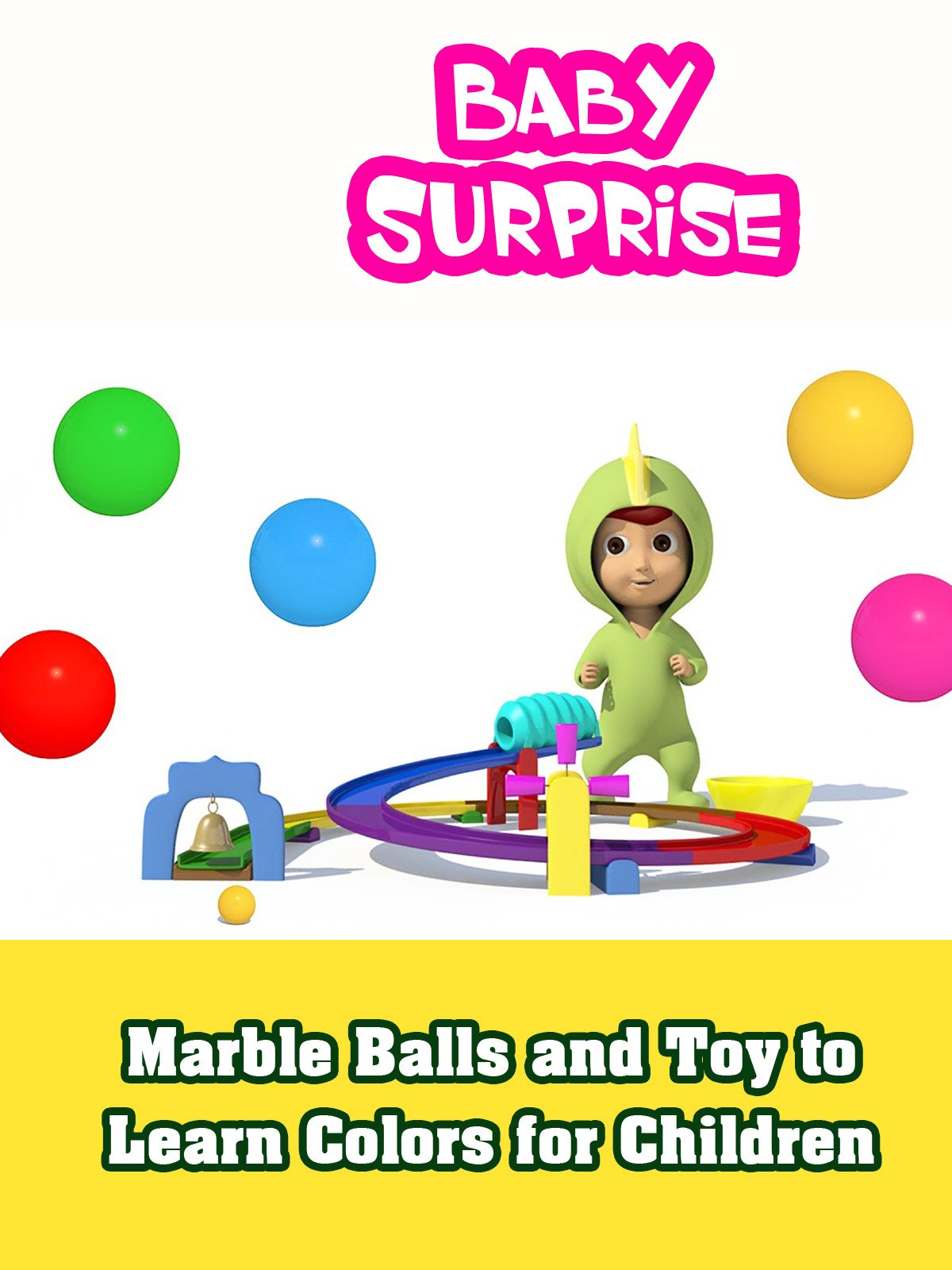 Marble Balls and Toy to Learn Colors for Children