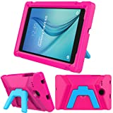 LEDNICEKER Kids Case for Samsung Galaxy Tab E 8.0 inch - Light Weight Shock Proof Kids Friendly Foldable Kickstand Protective Case for Samsung Galaxy Tab E 8-inch Tablet - Magenta/Rose (Color: Magenta/Rose, Tamaño: For Samsung Galaxy Tab E 8 inch Tablet)