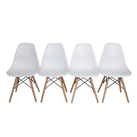 4x Charles Ray Eames inspirado DSW lateral Eiffel vida salón comedor oficina silla conjunto de 4sillas