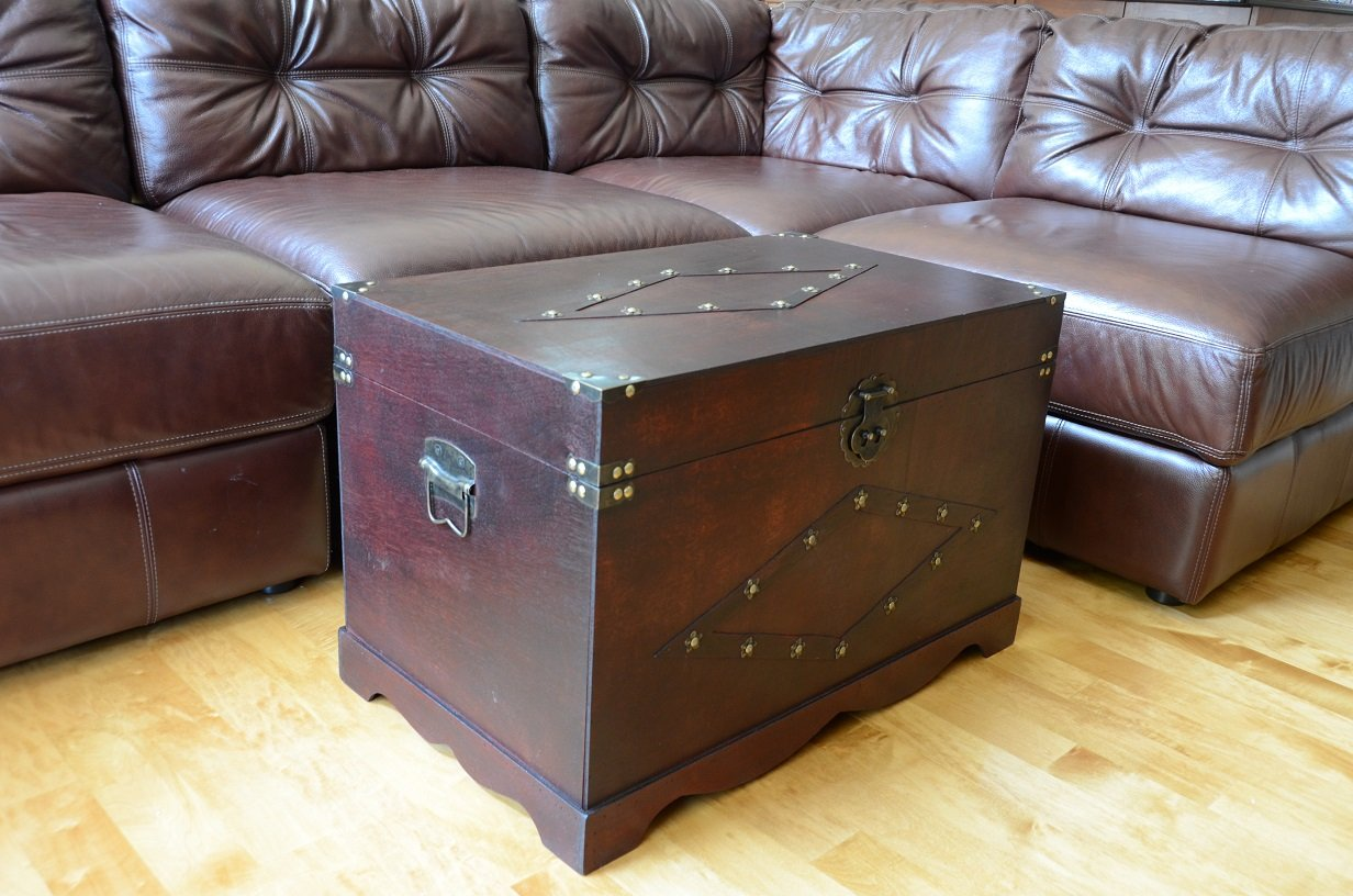 Jamestown Chest Wooden Steamer Trunk - Large Trunk 2