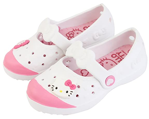 Hello Kitty Bony Collection For Girls Youth Light Weight EVA Clog Mule Slippers