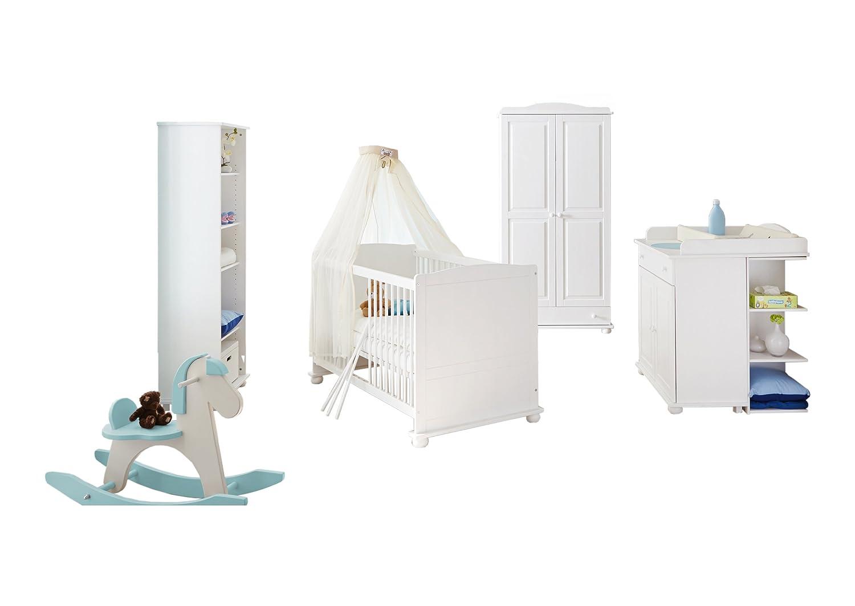 TICAA Babyzimmer 'Adam' 5-teilig Kiefer Weiß günstig kaufen