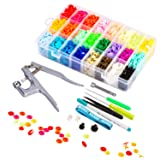 Lynda Snaps and Snap Pliers Set, 360 Sets T5 Plastic Buttons for Sewing and Crafting (Color: kit, Tamaño: kit)